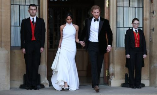 Meghan Markle Debuts Her Second Stella McCartney Wedding Dress En Route to Her Reception
