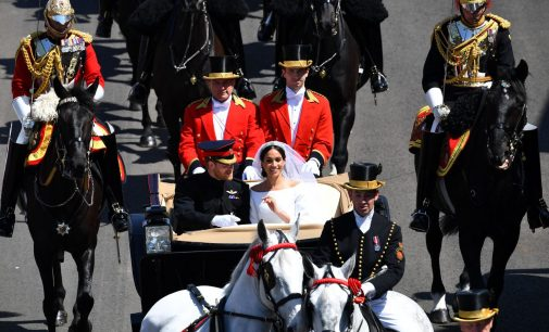 Prince Harry and Meghan Markle Royal Wedding live coverage ; The Glamour, Beauty, Hats and the kiss